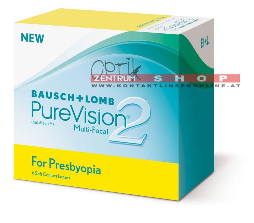 PureVision2 for Presbyopia Monatskontaktlinse 6er Box