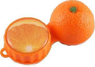 Kontaktlinsenbehälter SC400 3D Orange