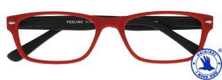 FEELING Lesebrille rot-schwarz G15900