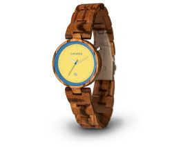 LAIMER Woodwatch ZEBRANO Mod. NICKY BLAU 0053