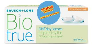 Biotrue ONEday MINUS for Astigmatism 30er Box
