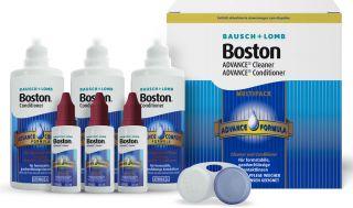 Boston Advanced Multipack 3x120ml Aufbewahrung und 3x 30ml Linsenreiniger