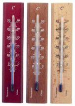 Zimmerthermometer Eiche rustikal lackiert