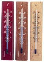 Zimmerthermometer Mahagoni lackiert